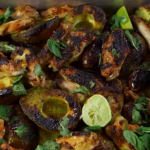 James Martin oven roasted avocado with chicken wings recipe