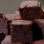Joe Wicks peanut butter brownies with dark chocolate and bananas recipe