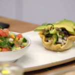 Stacie Stewart courgette tacos with mango and melon salsa recipe on How to Lose Weight Well