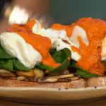 Madeleine Shaw breakfast salad on toast recipe on Sunday Brunch