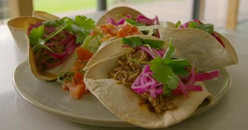 Tom Kerridge served up tasty low calorie pulled pork tacos with oranges, chipotle paste and pickled pink onions on Tom Kerridge's Lose Weight For Good. The ingredients for the marinade:...