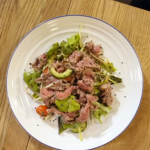 Stacie Stewart Vietnamese style rare beef salad recipe for the Paul Mckenna diet on How to Lose Weight Well