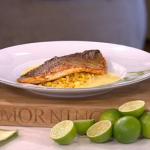James Martin cajun sea bass with corn and butter sauce recipe on This Morning