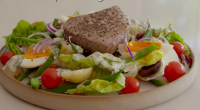 Tom Kerridge served up a tasty low calorie tuna nicoise salad with on Tom Kerridge's Lose Weight For Good. The salad comes in at just 350 calories per serving. See...