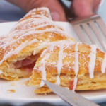 Paul Hollywood fruit turnovers with apricot and raspberries recipe on The Great Celebrity Bake Off