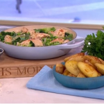 Phil Vickery garlic chicken with roast potatoes recipe