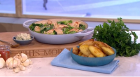 Phil Vickery served up a tasty one pot garlic simmered chicken with roast potatoes dish that is packed full of goodness on This Morning. the ingredients are: 8 large chicken...