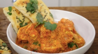 James Martin served up tasty homemade naan bread with a Indian masala prawn curry on James Martin's Saturday Morning. The ingredients for the naan bread: 300g self-raising flour, 125ml water,...