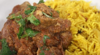 James Martin serves up a tasty lamb curry with pilau rice as an alternative to a takeaway on James Martin's Saturday Morning. The ingredients are: 15ml veg oil, 800g lamb...