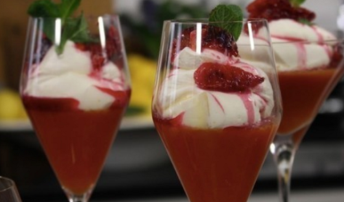 James Martin blood orange jelly with syllabub recipe | TV ...