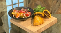 Shivi Ramoutar serves up Jamaican beef patties with ginger, tomato and orange salad on Saturday Kitchen. The ingredients for the pastry are: 300g plain flour, plus extra for dusting, 1½...