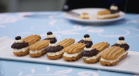 Prue Leith showcased her tiramisu sandwich biscuits on The Great Celebrity Bake Off Stand Up to Cancer. Prue provided the recipe for the celebrities for this week's technical challenge. The...
