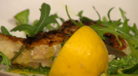Jamie Oliver served up tasty grilled chicken Under a brick with basil, parsley, mint, lemon, cheese and almond pesto on Sunday Brunch. The ingredients are: 1 fresh bay leaf, 1...
