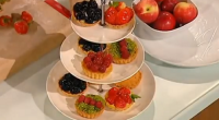 French chef Richard Bertinet served up delicious fruit tartlets with sweet pastry and creme patissiere on Saturday Kitchen with James Martin. The ingredients for the sweet pastry are: 350g plain...