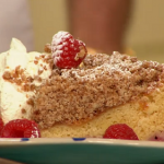 Simon Rimmer raspberry crumble cake recipe on Sunday Brunch