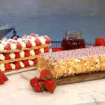 Phil Vickery stunning strawberry millefeuille recipe on This Morning