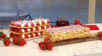 Phil Vickery served up a stunning strawberry millefeuille (a thousand leaves summer pudding) on This Morning. The ingredients are: 500g all butter puff pastry, 1 tbsp vanilla extract, 560mls double...