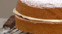 Juliet Sear served up a tasty Victoria Sponge for The sweetest street party treats on This Morning. The ingredients are: 300g salted butter, 300g casted sugar, 6 eggs, 300g self-raising...