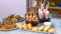 Wolfgang Puck serves up afternoon tea with a twist including cheese burgers and marshmallows dipped in chocolate on This Morning. See recipes from Wolfgang in his book titled: Wolfgang Puck...