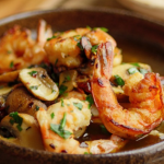 Simon Rimmer King Prawns with Mushrooms, Chilli and Anchovy recipe