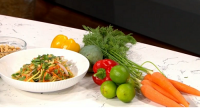 Phil Vickery pimps up your summer salad with a variety of ingridents including carrot, green mango, avocado, shallot, roasted peanut and salad dressings on This Morning.