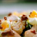 Jamie Oliver sorta salmon nicoise with a yoghurt dressing recipe