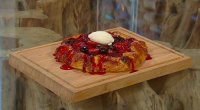 Matt Tebbutt served up a delicious strawberry and cherry galette with mascarpone cream cheese on Saturday Kitchen.
