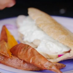 Dale Pinnock chicken kebab and chip recipe on Eat, Shop, Save