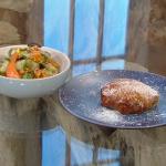 Nargisse Benkabbou Moroccan chicken pie recipe on Saturday Kitchen