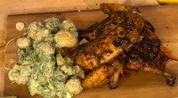Simon Rimmer served up a tasty Peruvian Roast Chicken With Green Mayo on Sunday Brunch. The ingredients 1 x 3lb chicken – spatchcocked. For the rub: 3 cloves garlic, tbs...