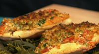 Jack Stein served up tasty crab shangurro on Sunday Brunch. The ingredients are: 3 tablespoons olive oil, 2 onions, finely chopped, 8 garlic cloves, finely chopped (1 kept separate), 225g...
