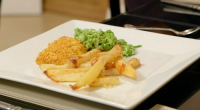 John Atkinson served up a fakeaway fish and chips with cornflakes batter and mushy peas on Eat Well for Less? The ingredients are: 3 free-range eggs, ½ tsp sea salt,...