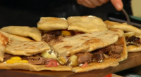 Simon Rimmer served up a tasty lamb naan sandwich with home made naan bread on Sunday Brunch. The ingredients are: lamb – 2kg butterfly lamb shoulder, most of the outer...