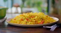 Nadiya Hussain served up a tasty prawn saffron biryani on Nadiya's Family Favourites. The ingredients are: 500g basmati rice, large pinch saffron, 1 small cinnamon stick and 2 tsp salt....