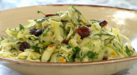 Yasmin Khan showcased her Palestinian Donyana salad recipe on Sunday Brunch. The ingredients are: 2 fennel bulbs (about 300g in total), 1 Granny Smith apple, or other tart apple, 15g...