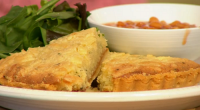 Nadiya Hussain served up a tasty cheddar cheese frangipane tart on Sunday Brunch. The ingredients are: 250g ready-made shortcrust pastry, 2 tsp yeast extract (Marmite, Vegemite, etc.), 100g unsalted butter,...