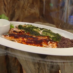 Rick Stein Mexican bass fish with beans and salsa verde recipe