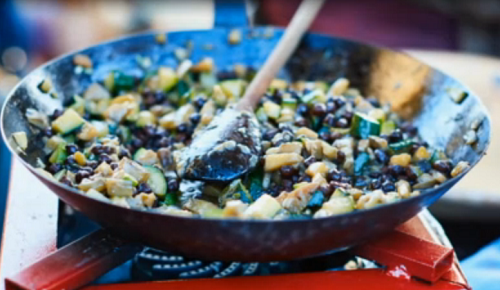Nonna Vita served up tasty homemade pasta with aubergine and black chickpea sauce on Jamie Cooks Italy. The ingredients are: 1 x Orecchiette , (or 300g dried orecchiette), 150 g...