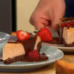 Simon Rimmer vanilla custard and chocolate cheesecake recipe on Sunday Brunch