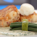 John Torode smoked haddock and salmon fishcakes with parsley sauce  recipe on Celebrity Masterchef