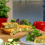Phil Vickery Mediterranean frittata with peas and fresh mint recipe on This Morning