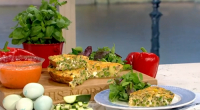 Phil Vickery served up a tasty Mediterranean frittata with peas and fresh mint on This Morning. Phil served the frittata with a red pepper fondant made with the following ingredients:...