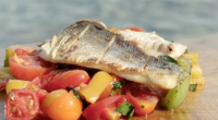 Gino D'Acampo served up a tasty sea bass (spigola) with tomatoes and basil salsa from his trip to Sardinia on This Morning. See Gino's recipes in his new book titled:...