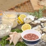John Torode seafood platter with smoked mackerel pate and homemade mayo recipe on This Morning