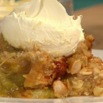 Simon Rimmer Blood Orange And Rhubarb Crumble on Sunday Brunch