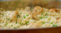 Nadiya Hussain served up tasty chicken and rice bake with drumsticks and basmati rice on Nadiya's Family Favourites. The ingredients for the rice are: oil, for greasing, 1 large onion,...