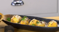 James Martin served up a tasty deep fried mushroom arancini with white wine, tarragon, mayonnaise and black shuffle on James Martin's Saturday Mornings. James made the dish for UK country...