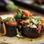 Simon Rimmer's pickled stuffed aubergine recipe