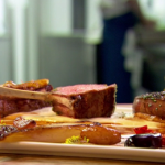 Raymond Blanc assiette of lamb with braised caramelized shallots recipe on Saturday Kitchen