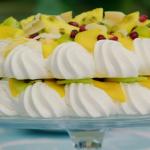 Prue Leith vegan pavlova with aquafaba recipe on the Great British Bake Off